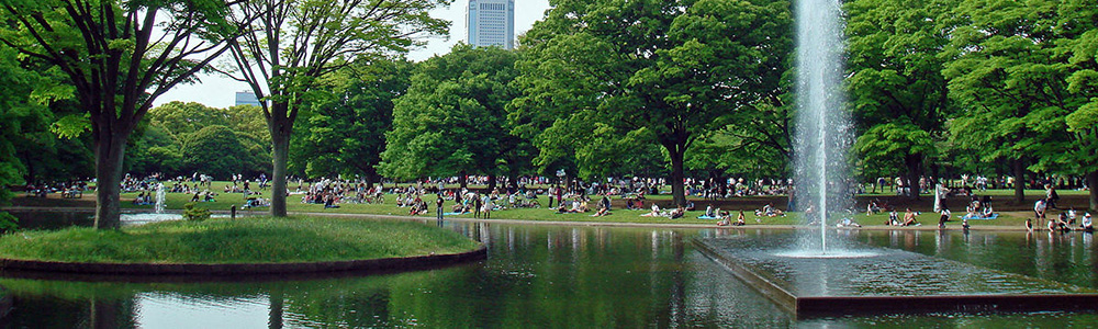 都市公園で神待ち
